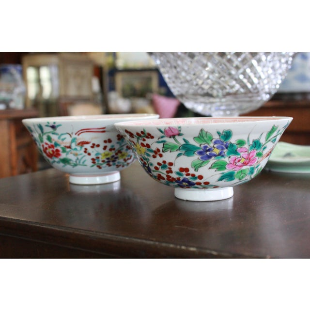 19th Century Vintage Rice Bowls - a Pair For Sale In New York - Image 6 of 8