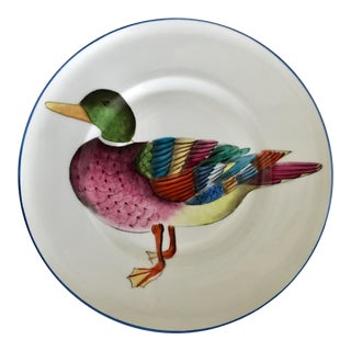 De Folin for Tour d'Argent Paris Limoges Hand Painted Duck Plate For Sale