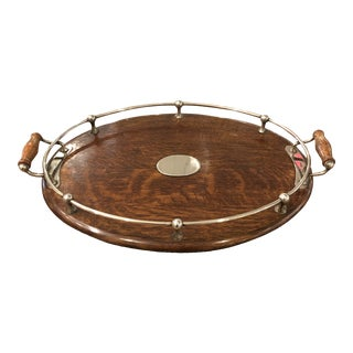 Art Deco Oak Tray For Sale