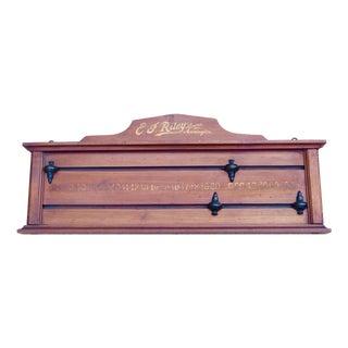 English Billiard Counter For Sale