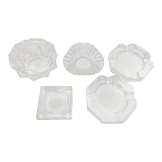 Vintage Baccarat Crystal Ashtrays - Set of 5 For Sale