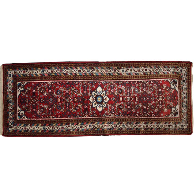 Vintage Persian Hamadan Runner- 2′7″ × 7′ For Sale - Image 9 of 10