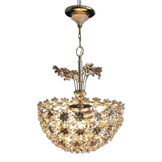 Palwa Crystal Blossom Continental Chandelier