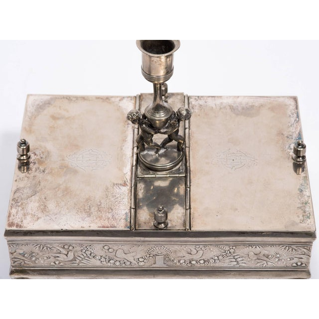 19th Century Silver Plate Letter Box For Sale - Image 4 of 10