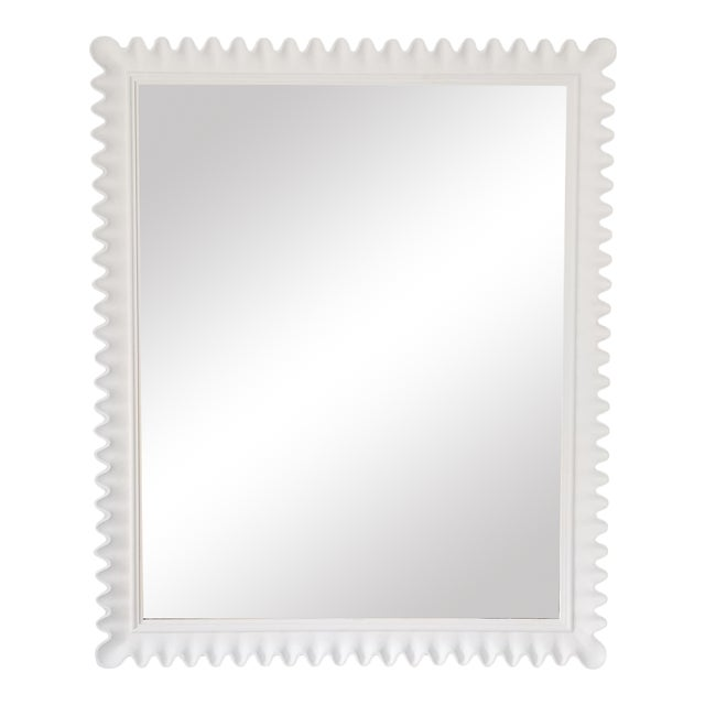 Marge Carson Scalloped Wall Mirror . For Sale