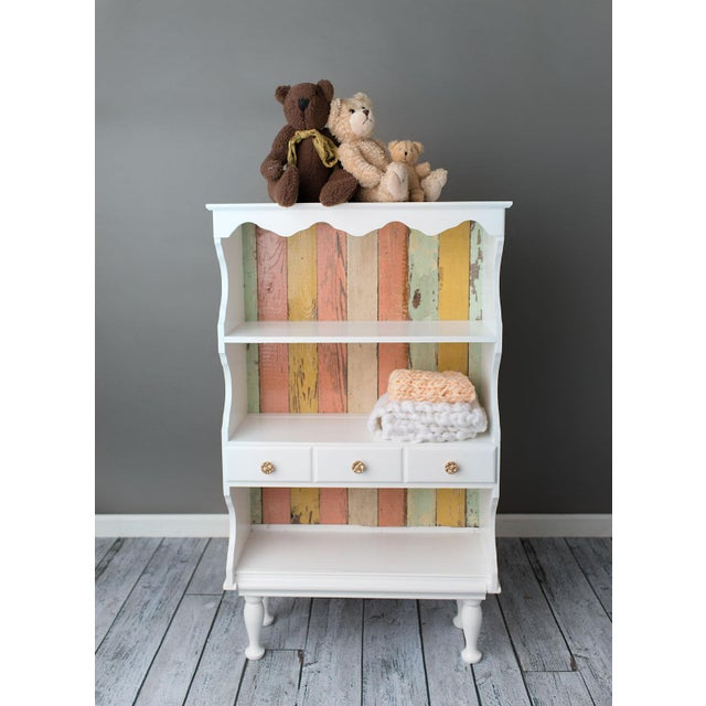 Rustic Farmhouse Shabby Chic White Cabinet For Sale - Image 3 of 3