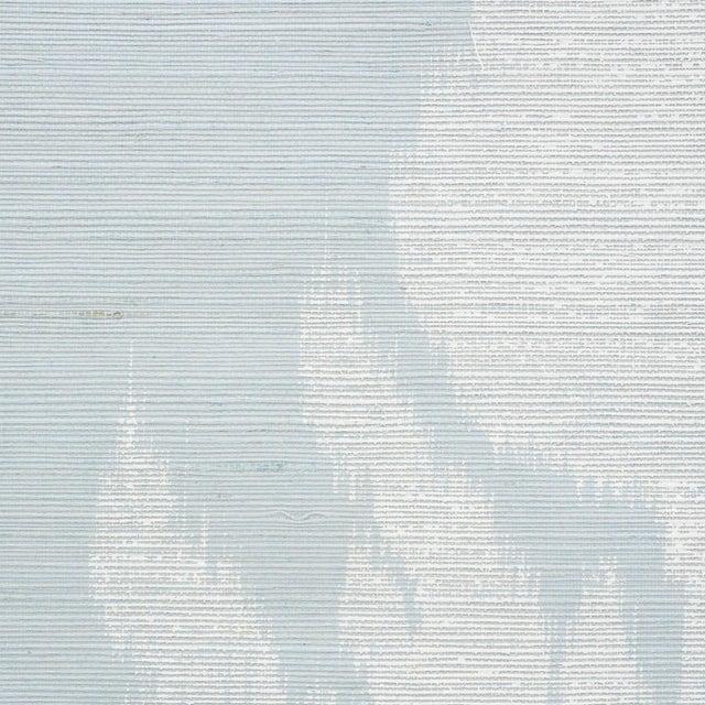 Schumacher Sample - Schumacher Agra Sisal Wallpaper in Sky For Sale - Image 4 of 5
