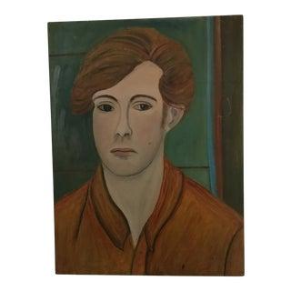 "Original Painting ""Pensive Man"" by Ruth Zimmerman"