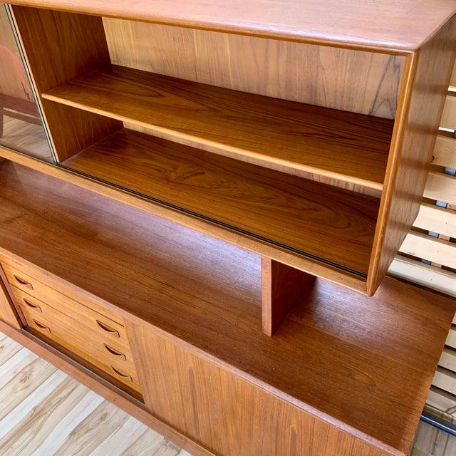 Wood 1960s Clausen & Søn Danish Modern Teak Hutch For Sale - Image 7 of 13