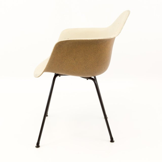 Mid-Century Modern Eames for Herman Miller Molded Plastic X-Base Shell Chairs - a Pair For Sale - Image 9 of 11