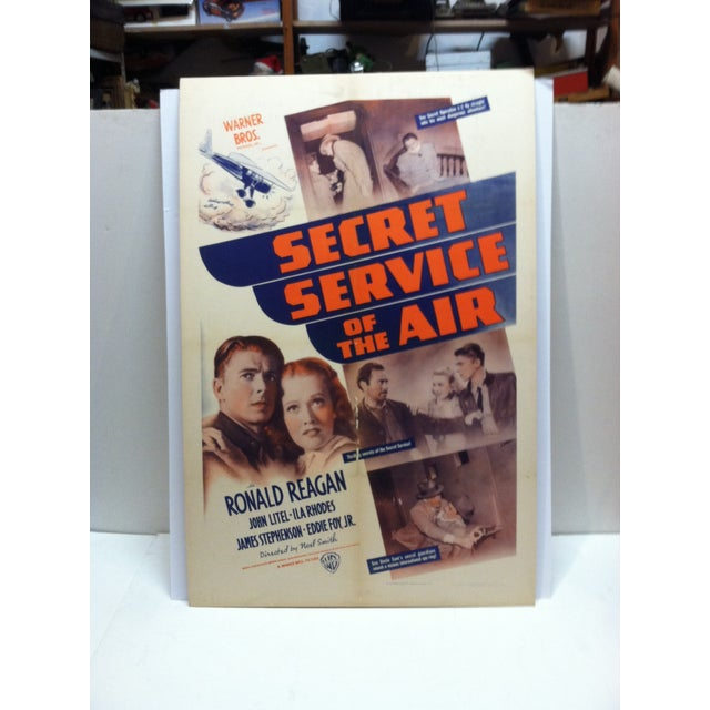 """Paper Vintage """"Secret Service of the Air"""" Ronald Reagan Mounted Movie Poster For Sale - Image 7 of 7"""