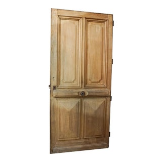 Late 19th Century Single Oak Entry Door For Sale