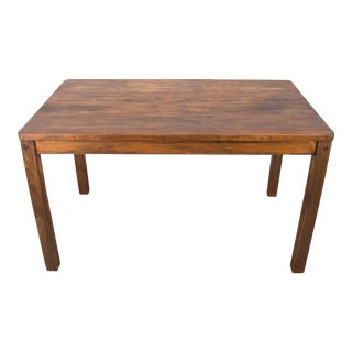 Vintage French Farmhouse Style Pine Rustic Rectangular Dining Table For Sale