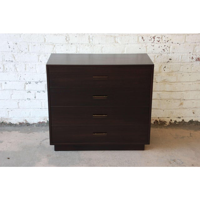 Mid-Century Modern Harvey Probber Mid-Century Modern Dark Mahogany Gentleman's Chest For Sale - Image 3 of 10