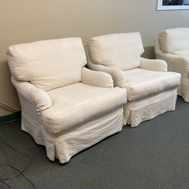 Traditional Cisco Bros Charleston Slipcover Armchairs - a Pair For Sale - Image 3 of 11