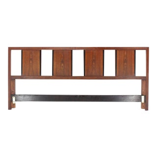John Stuart King Size Walnut Headboard For Sale