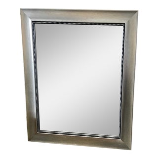 1980s Silver Painted Bathroom Mirror For Sale