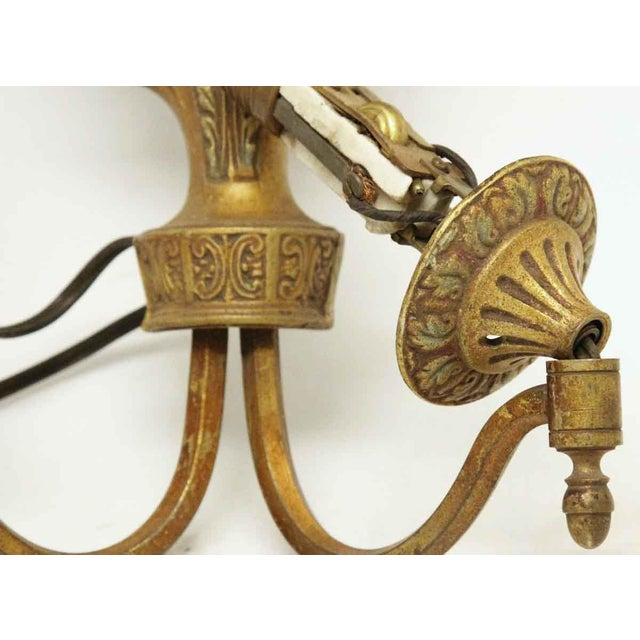 1920s Single Two Arm Bronze Sconce For Sale - Image 9 of 11
