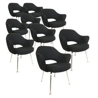 Knoll Eero Saarinen Executive Armchairs in Knoll Black Upholstery Preview