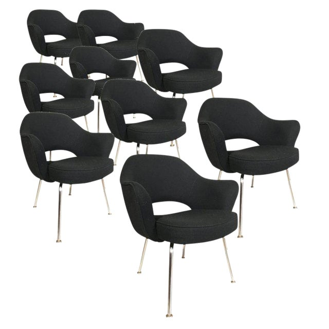 Executive armchairs designed by Eero Saarinen and manufactured by Knoll. Very good usable chairs. We also have many...