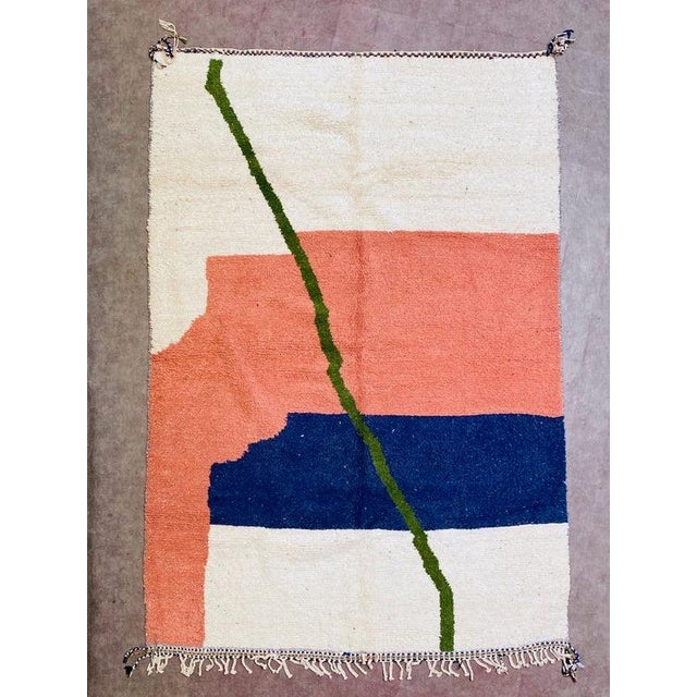 1980s Moroccan Beni Ourain Rug-7′3″ × 10′6″ For Sale - Image 9 of 9