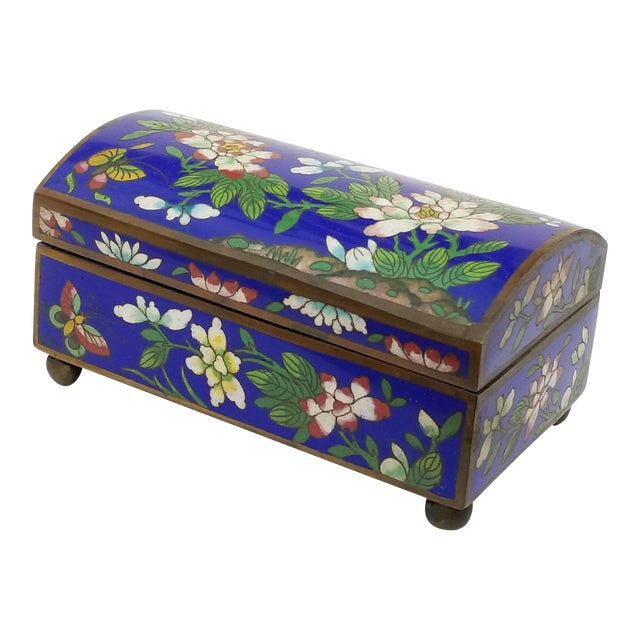 Antique Chinese Cloisonne Box For Sale