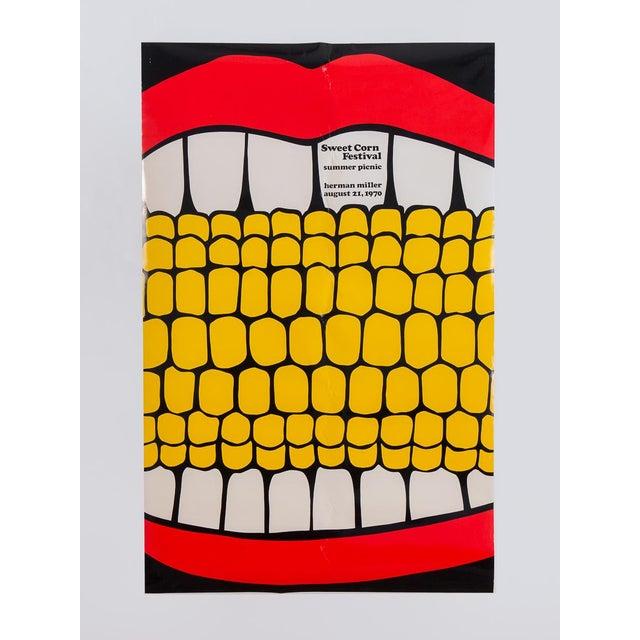 Herman Miller Summer Picnic Sweet Corn Festival Poster For Sale - Image 9 of 9