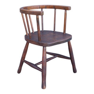 19th Century English Elm Child's Chair