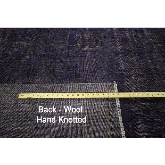 """Purple Overdyed Wool Rug - 9' 7"""" x 12' 9"""" - Image 7 of 10"""