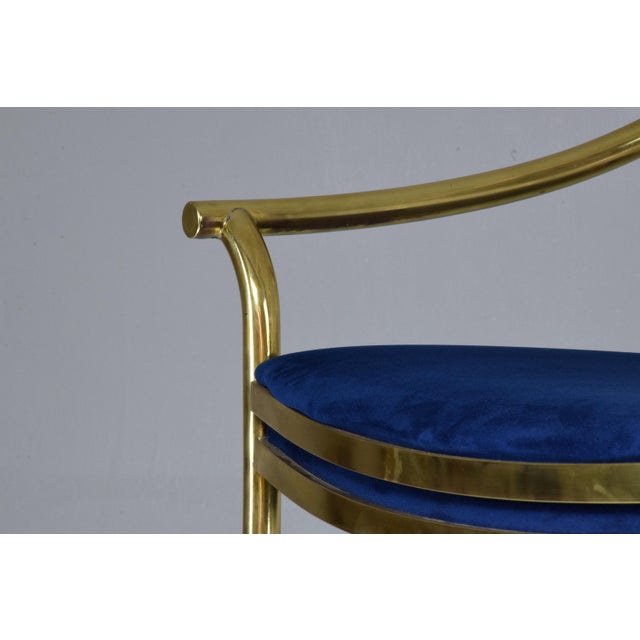 20th Century French Vintage Brass Armchair, 1970-1980 For Sale - Image 6 of 13