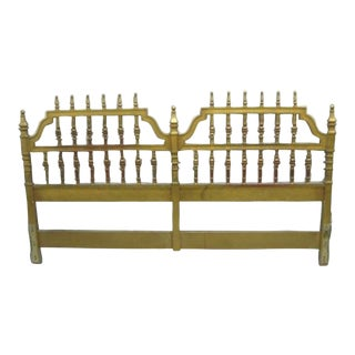 French Rococo Style King Headboard Bed For Sale