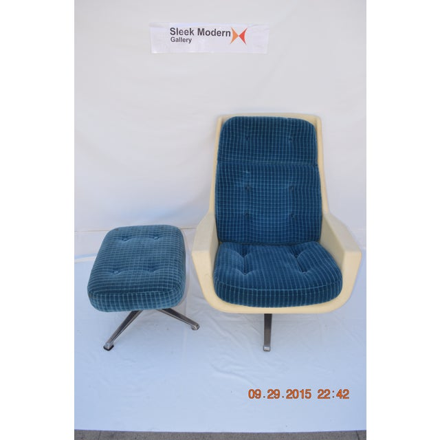 Molded Chair & Ottoman - Image 3 of 11