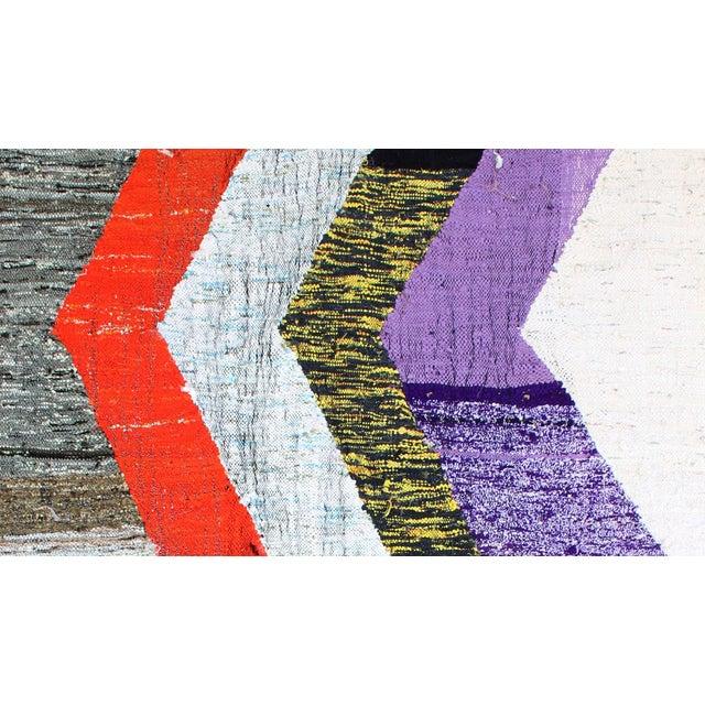 "Moroccan Kilim Boucherouite Rug - 4'6"" X 5'6"" - Image 3 of 6"