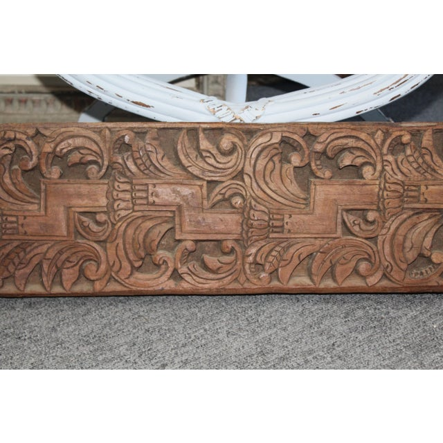 Late 20th Century Indonesian Carved Panel For Sale - Image 4 of 7