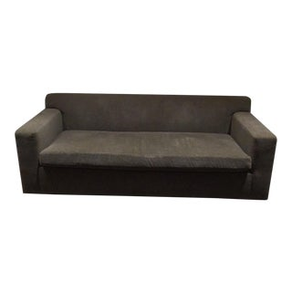 Contemporary Mohair Sofa in Slate Gray / 2 Available For Sale