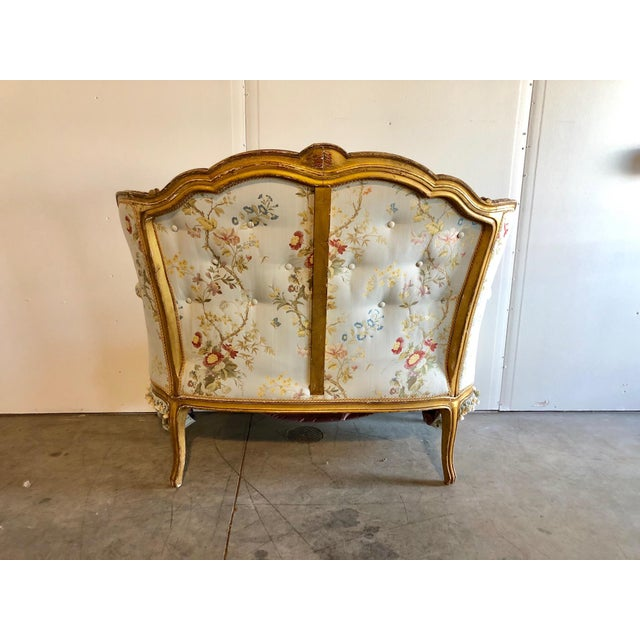 French Antique French Victorian Settee For Sale - Image 3 of 6