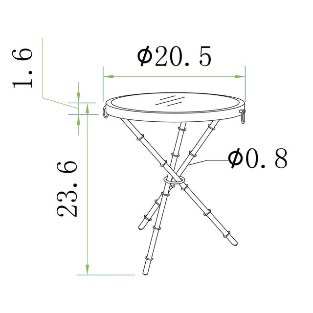 Metal Transitional Pasargad Home Vicenza Collection Side Table For Sale - Image 7 of 8