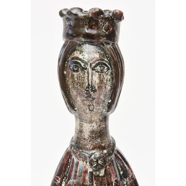 Figurative Midcentury Modern Glazed Ceramic Studio Gambone Style Vessel Sculpture For Sale - Image 3 of 11