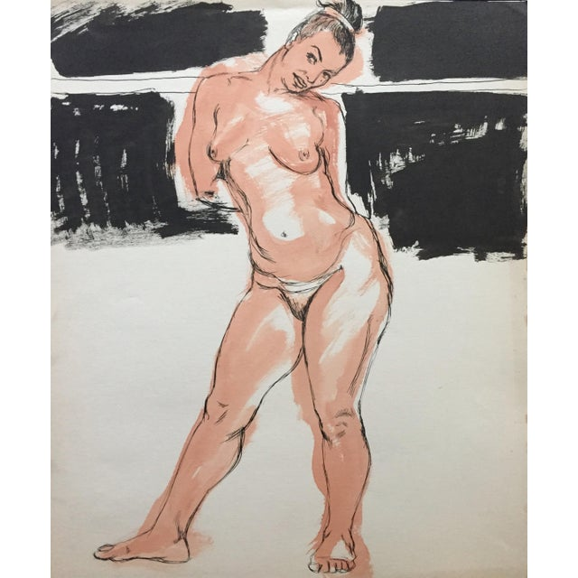1950s Model Flo Allen Painting Bay Area Figurative For Sale In New York - Image 6 of 6