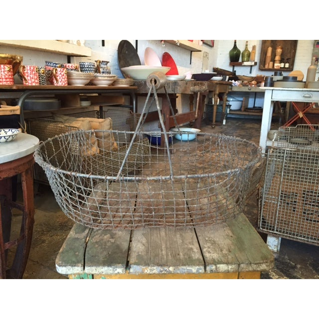 Vintage Iron Basket - Oval - Image 2 of 3
