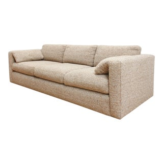 Mid Century Modern Nubby Chenille Sofa - Charles Pfister Style For Sale