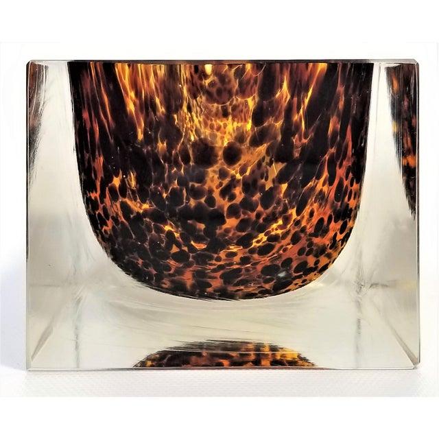 Glass Exquisite Murano Glass Tortoiseshell Bowl by Alessandro Mandruzzato For Sale - Image 7 of 13