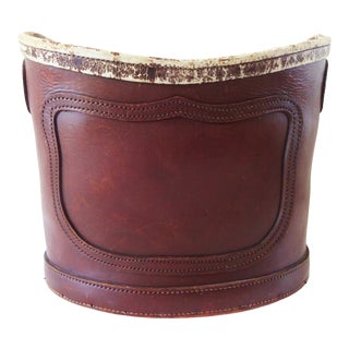 Antique Leather Grain Bucket For Sale
