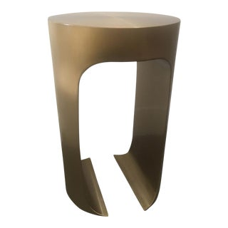 Modern Brass Occasional Table