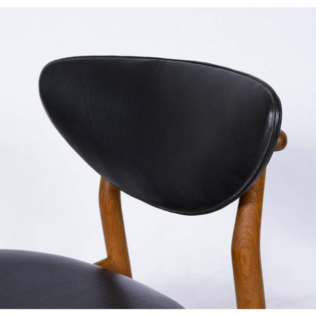 Set of Six Finn Juhl NV 55 Dining Chairs For Sale In Los Angeles - Image 6 of 10