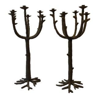 Monumental Tree Candelabras - a Pair