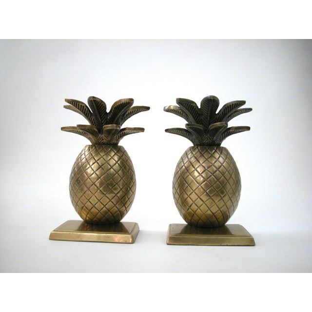Brass Pineapple Bookends - A Pair - Image 3 of 8