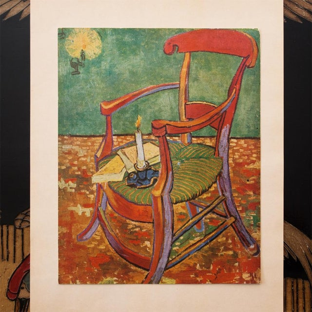 "C.1940s Van Gogh, ""Gauguin's Armchair"" Parisian Lithograph For Sale - Image 4 of 11"