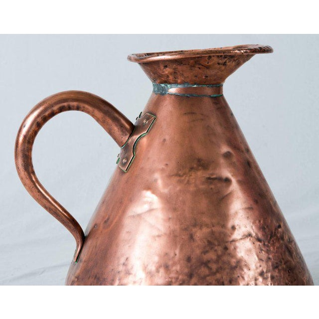 Large Four Gallon Victorian English Copper Ale-Beer Measuring Jug For Sale - Image 9 of 11