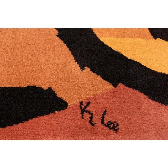 Paul Klee Paul Klee Artist Scandinavian Rug - 4′8″ × 6′6″ For Sale - Image 4 of 13